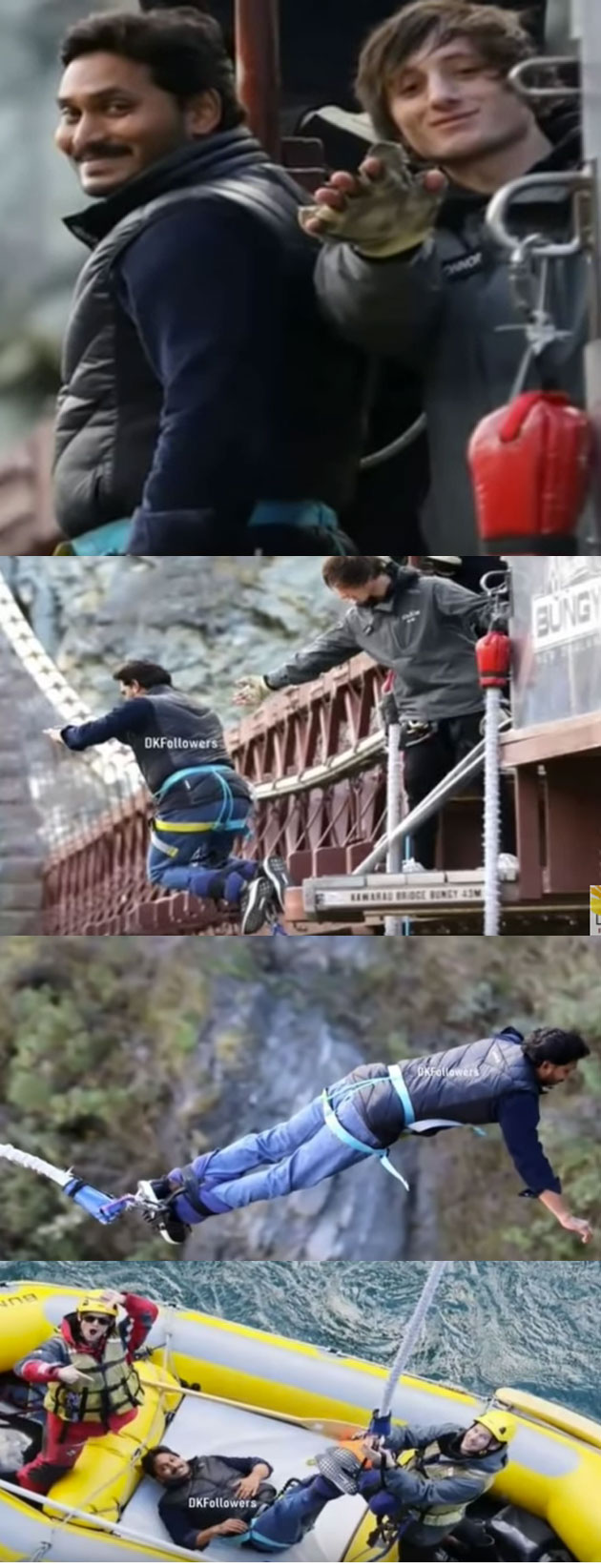 YS Jagan Mohan Reddy Bungy Jump at Kawarau Bridge, New Zealand