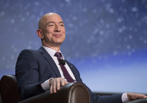 Amazon founder Jeff Bezos becomes richest in modern history
