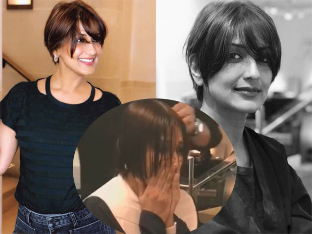 Sonali Bendre maintaining Positive outlook after cutting her hair