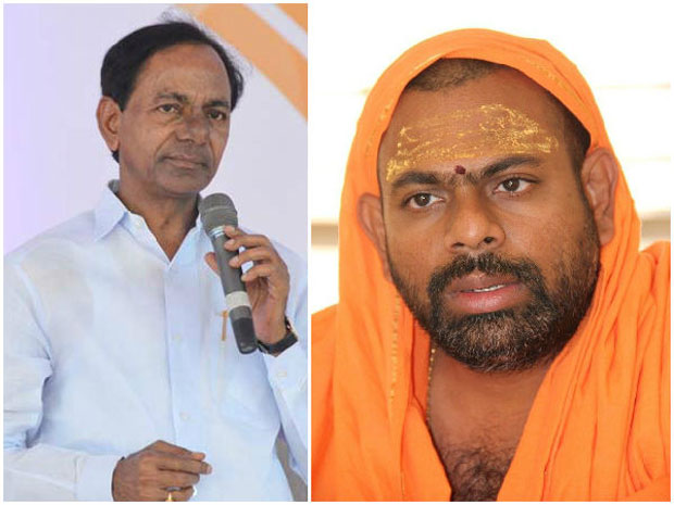 Swami Paripoornanandha blamed KCR for not keeping up his word