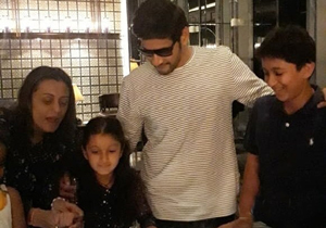Mahesh babu Celebrates Sitara Birthday photos