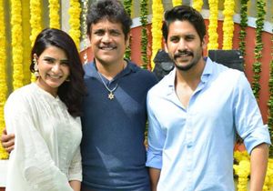 Naga Chaitanya and Samantha New Movie Launch Photos