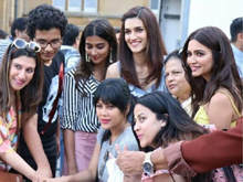 Pooja Hegde and Kriti Sanon celebrating H4 wrap-up Photos