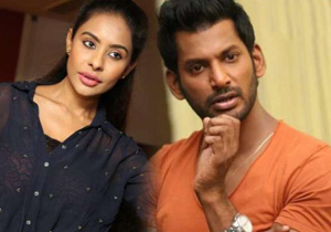 Sri Reddy Fearing Threat from Young Tamil Hero Vishal Reddy