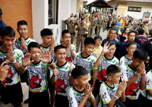 Thai cave boys reveal they tried to dig their way out as they describe miracle escape
