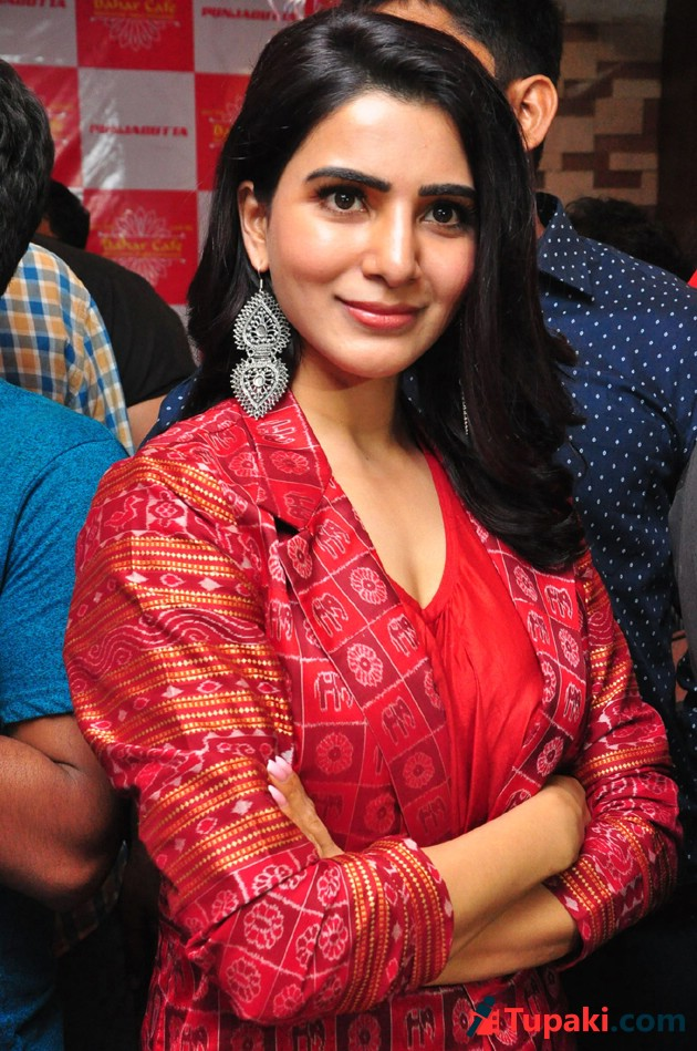 Samantha Launches Bahar Cafe at Punjagutta Photos