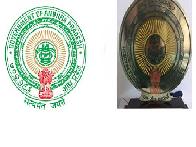 A big mistake has taken place in the official symbol of Andhra Pradesh