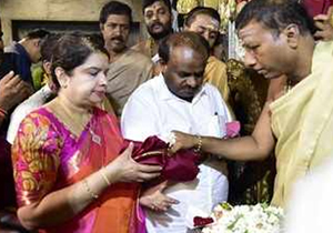 H D Kumaraswamy visits 40 temples in 82 days as chief minister