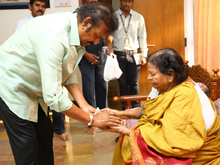 Mohan Babu With His Mother Photos