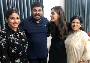 Raai Lakshmi With Chiranjeevi Family