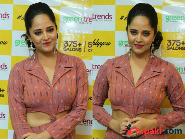 Anasuya Launches Green Trends Salon In Kukatpally Photos