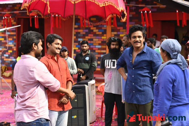 Nagarjuna Nani Devadas Working Stills
