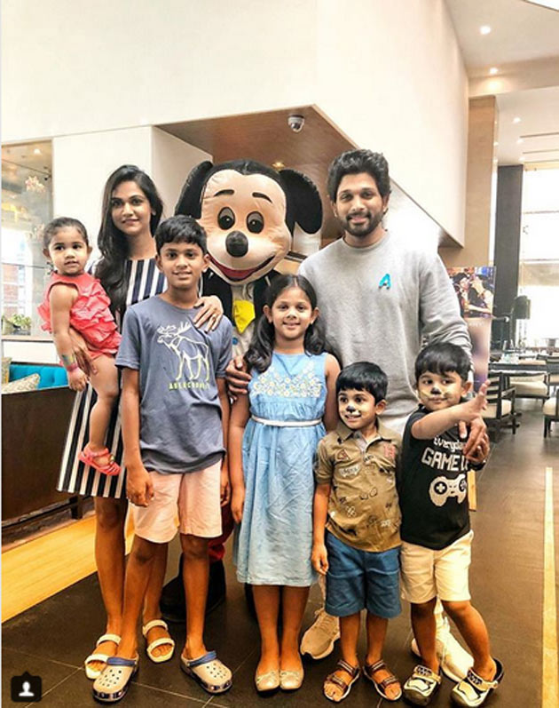 Allu Arjun Family with Allu Family Kids