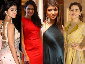 Rakul Preet Singh Taapsee, Manchu Lakshmi And Shriya Fires on Lady Journalist