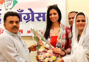 Shami Wife Hasin Jahan Joined Congress party