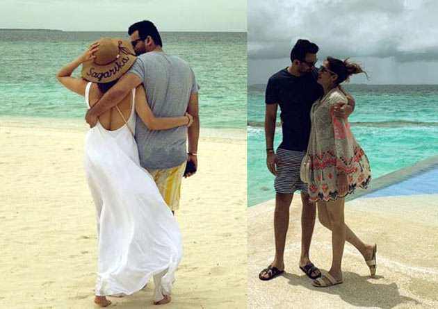 Yuvi, Zaheer, Nehra Familes On Beach Vacation Photos