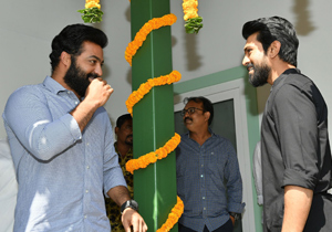 #RRR : NTR and Charan rehearsing for martial arts