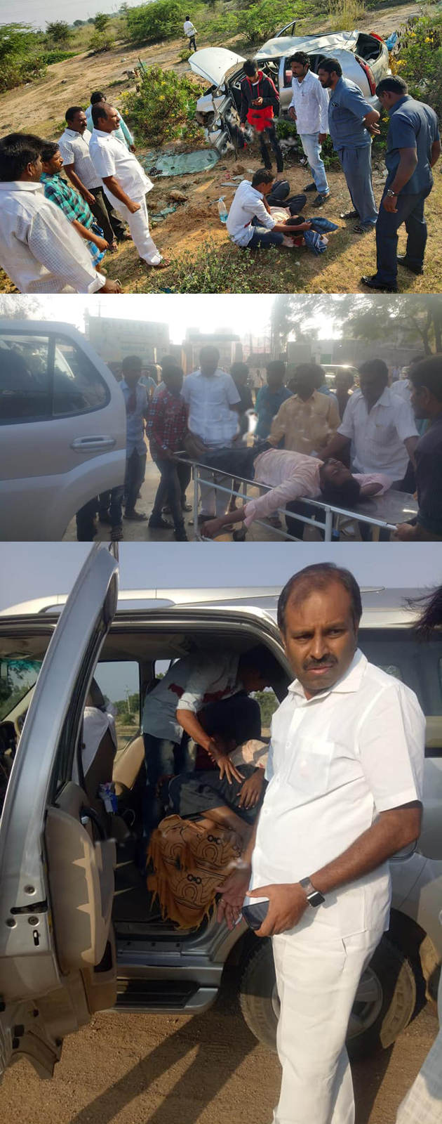 YSRCP MLA Srikanth Reddy Saves Injured Persons In Road Accident