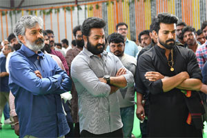 Jr NTR And Ram Charan Looking RRR Shooting Complete Early