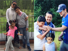 Namrata Shirodkar candid Moments with husband Mahesh Babu and kids