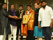 Balakrishna Chiranjeevi Nagarjuna At TSR TV9 National Awards