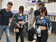 Ileana spotted with her Husband