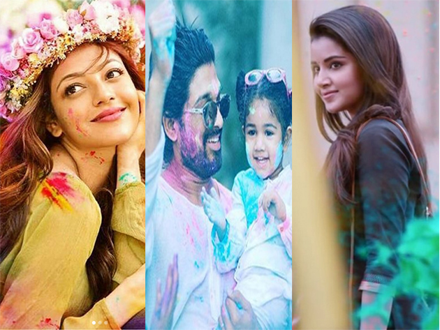 Celebs Celebrating Holi 2019 Photos