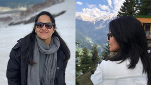 Anchor Anasuya Holiday Trip with Family Members in Jammu and Kashmir