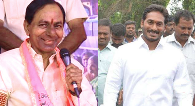 KCR Gets Relief With Exit Polls Favour to Jagan In Andhra