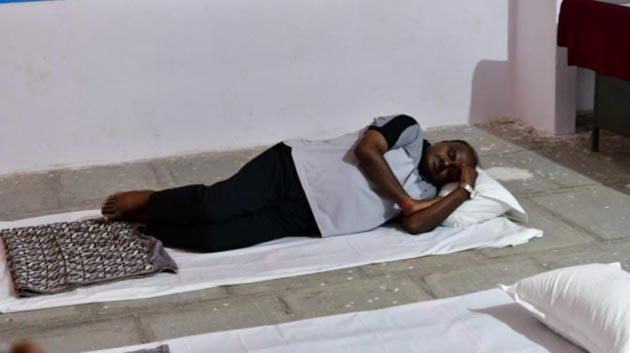 Karnataka CM Kumaraswamy sleeps on floor during his village stay