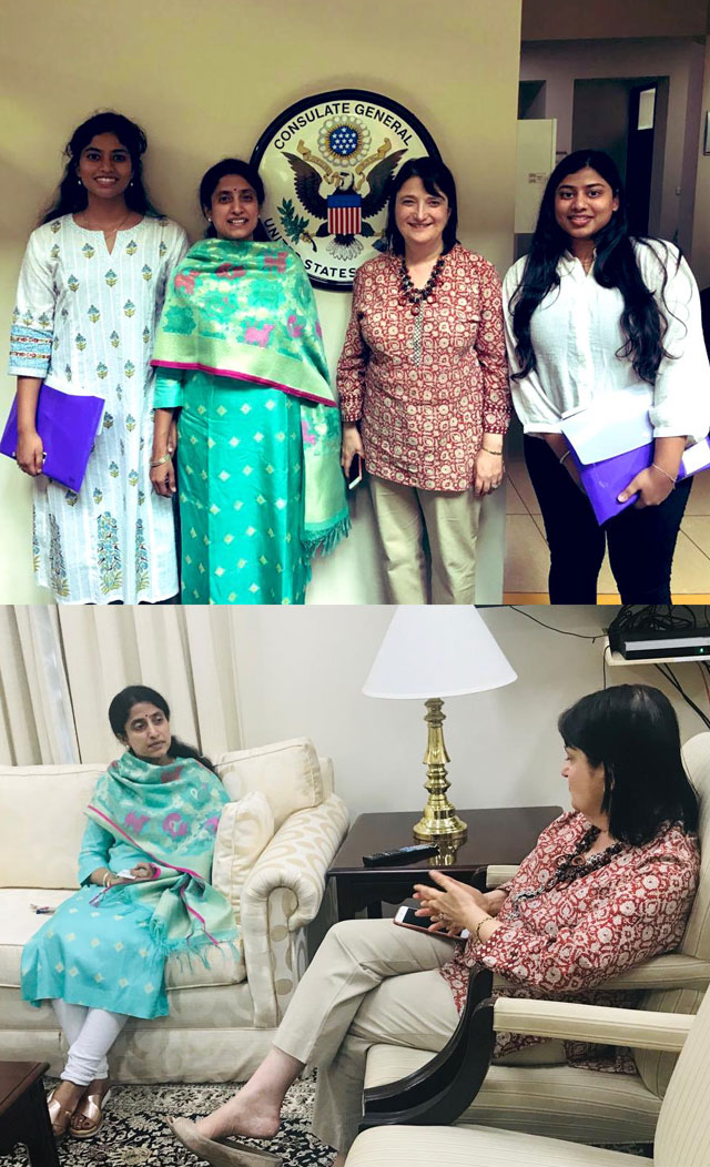 YS Jagan Daughters Harshini and Varsha Viral Pic