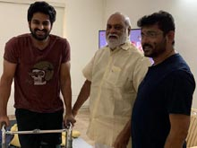 Raghavendra Rao visits injured Naga Shaurya Photos