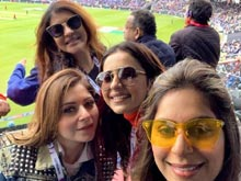 Upasana, Rakul And Lakshmi Manchu At IND vs PAK Match Photos