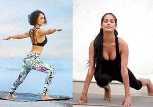 Celebs Doing Yoga During International Yoga Day Photos