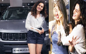 Taapsee Pannu Gifts Jeep Compass To Sister Shagun On Her Birthday