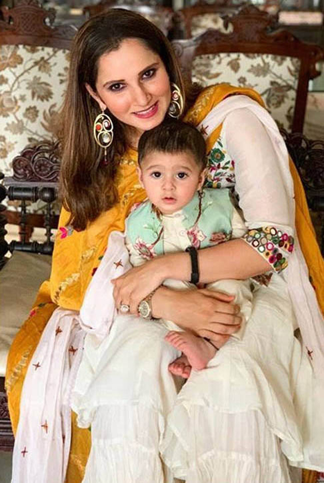 Sania Mirza Son Izhaan Mirza Malik Photos