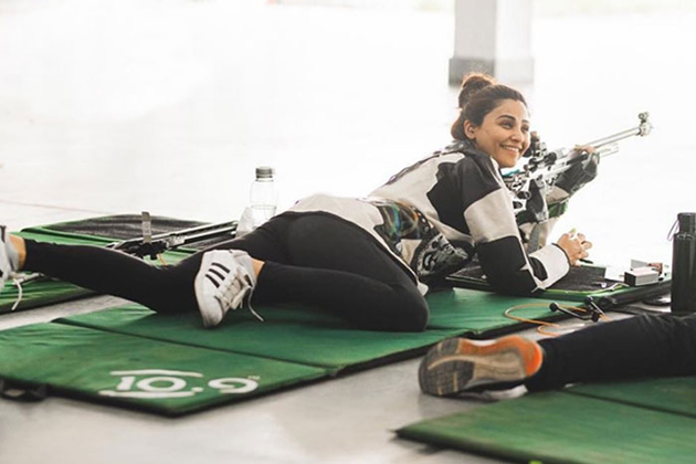 Actress Daisy Shah for becoming a professional shooter