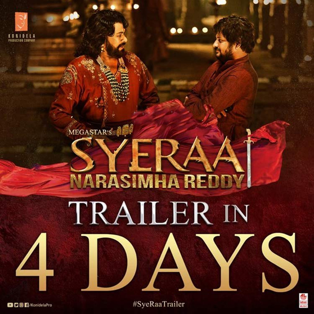 Chiranjeevi And Surender Reddy In Sye Raa Movie Poster