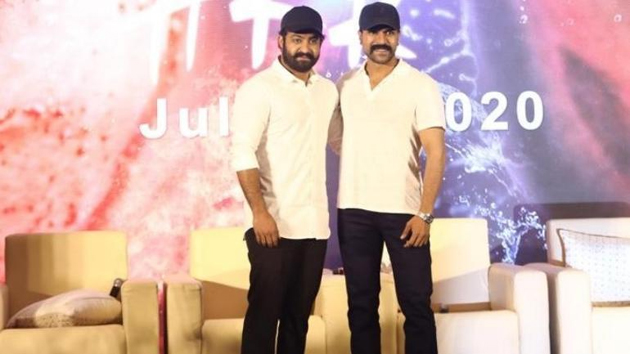 NTR And Ram Charan in #RRR