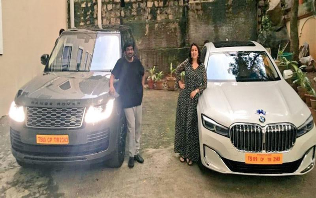 Puri and Charmee receive keys to the New Range Rover