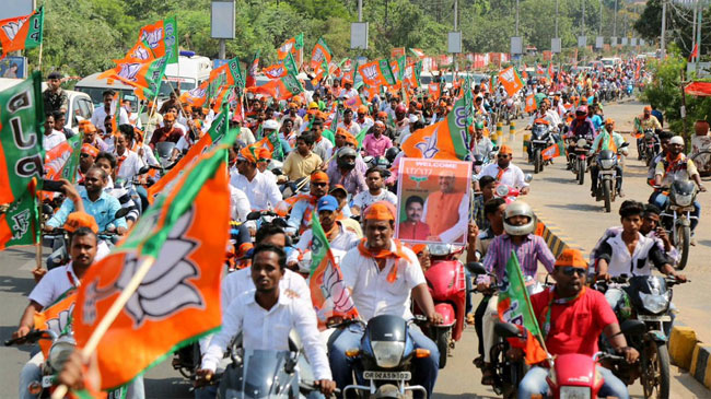 Image result for Serilingampally to Kukatpally recent BJP rally