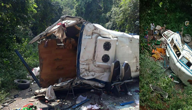 Tourist Bus Falls into Tribal Area Valley in Andhra Pradesh