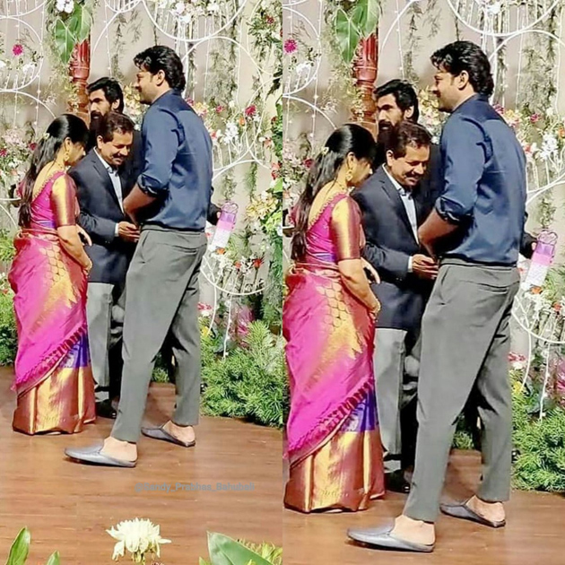 Prabhas Spotted At Venkatesh Daughter Wedding Reception