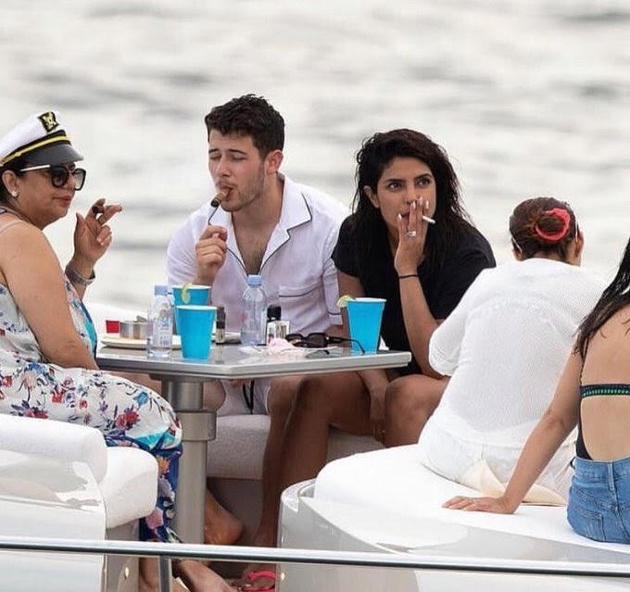 Viral News News And Photos: Asthmatic Priyanka Smokes On Yacht