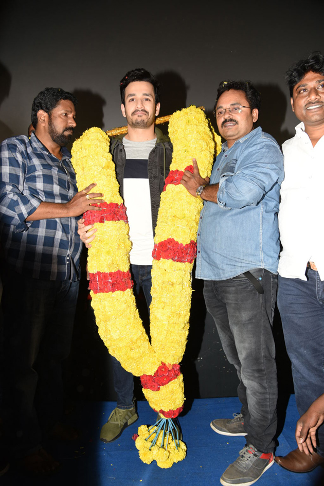 Mr Majnu Team At Sailaja Theatre Vijayawada Photos