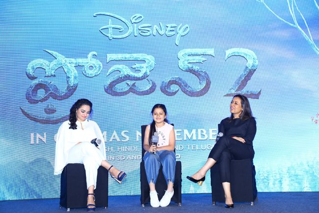 Frozen 2 Press Meet With Nithya Menon,Namrata Shirodkar,Sitara