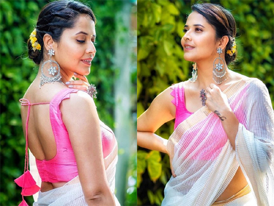 Anasuya In Saree Photos