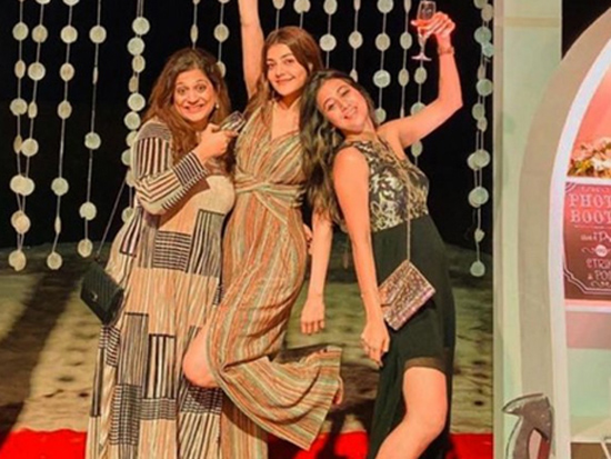 Kajal Aggarwal Enjoying With Her Friends