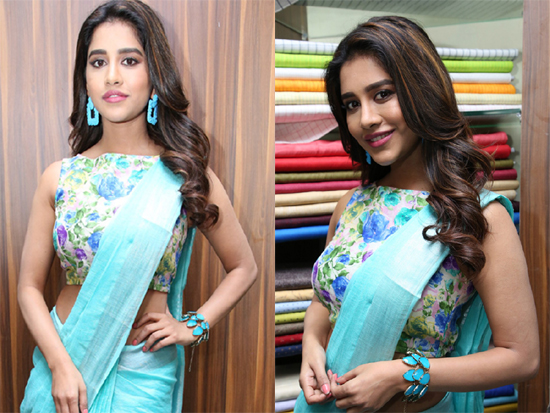 Nabha Natesh Inaugurated Linen House at Dilsukhnagar Photos