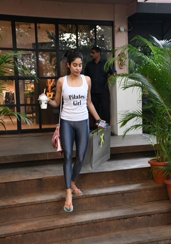 Janhvi Kapoor Spotted In Gym Wear